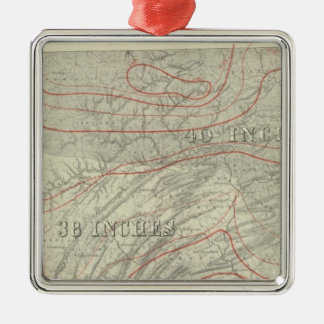 Penn climatological map metal ornament