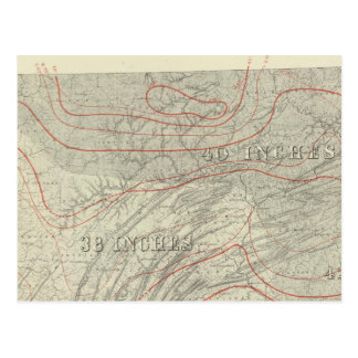 Penn climatological map postcard