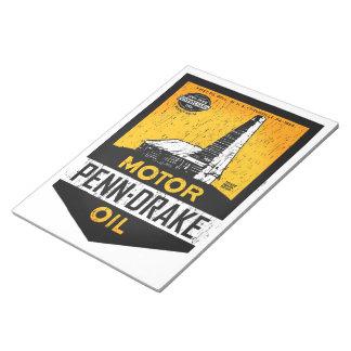 Penn-Drake Motor Oil distressed sign notepad