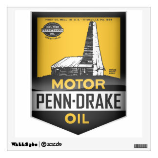 Penn Drake Motor Oil vintage sign crystal version Wall Decor