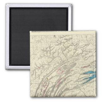 Penn iron, coal, petroleum, zinc refrigerator magnet
