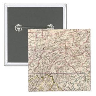 Penn, NJ, Md, Dela, DC, Virginia Pin Cuadrada 5 Cm