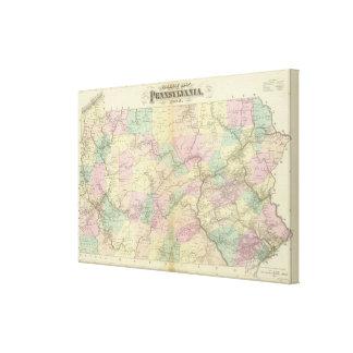 Penn railway map canvas print