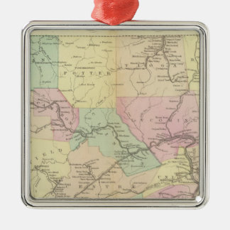 Penn railway map metal ornament