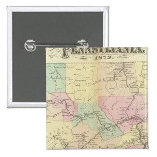Penn railway map pinback button