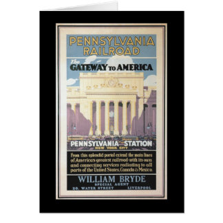Penn Station,Gateway To America 1929 Card