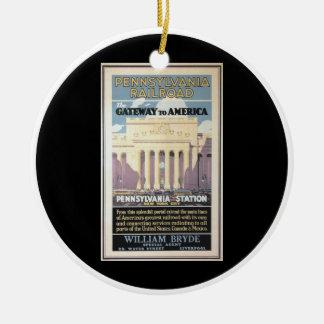 Penn Station,Gateway To America 1929 Ceramic Ornament