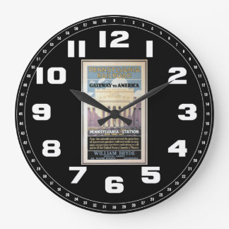 Penn Station,Gateway To America 1929 Large Clock