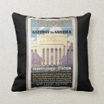Penn Station,Gateway To America 1929 Pillow