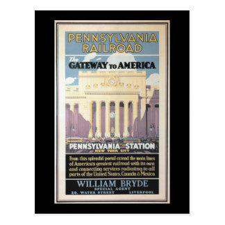 Penn Station,Gateway To America 1929 Postcard