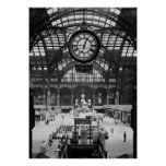 Penn Station New York City Vintage Circa 1900 Poster