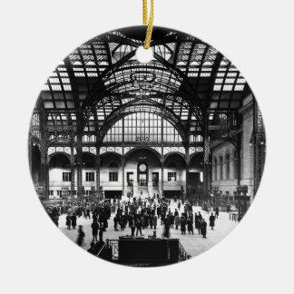 Penn Station New York City Vintage Railroad Ceramic Ornament