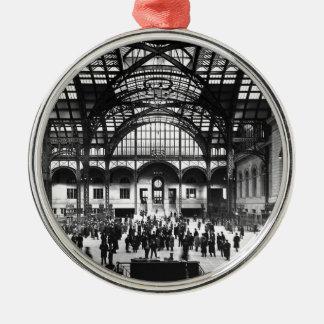 Penn Station New York City Vintage Railroad Metal Ornament