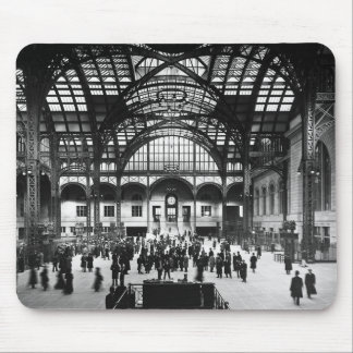 Penn Station New York City Vintage Railroad Mouse Pad