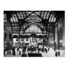 Penn Station New York City Vintage Railroad Postcard