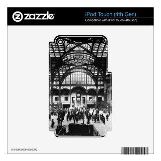 Penn Station New York City Vintage Railroad iPod Touch 4G Skins