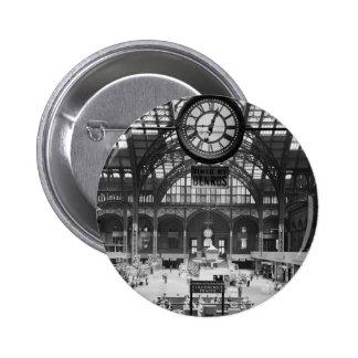 Penn Station New York Magic Lantern Slide Vintage Buttons
