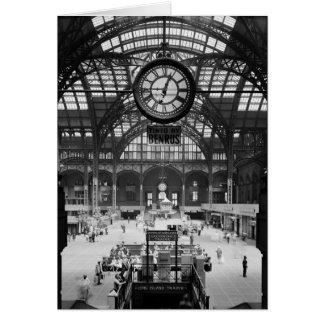 Penn Station New York Magic Lantern Slide Vintage Card