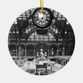 Penn Station New York Magic Lantern Slide Vintage Ceramic Ornament