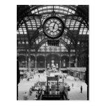 Penn Station New York Magic Lantern Slide Vintage Postcard