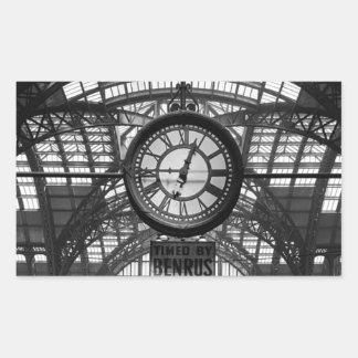 Penn Station New York Magic Lantern Slide Vintage Rectangular Sticker