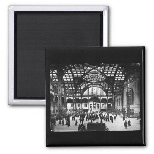 Penn Station NYC 1910 Magic Lantern Slide Magnet