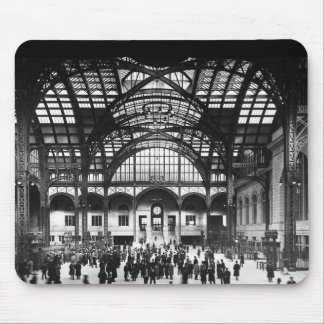 Penn Station NYC 1910 Magic Lantern Slide Mouse Pads