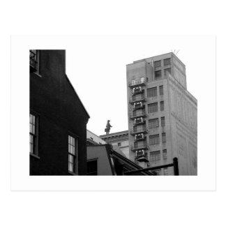 Penn Walking, Philadelphia. Postcard