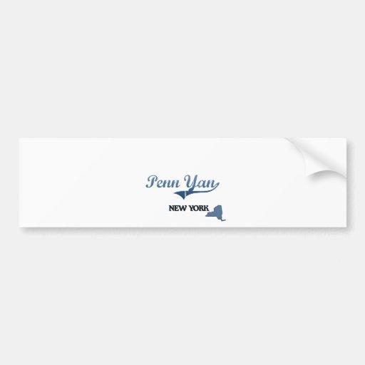 Penn Yan New York City Classic Car Bumper Sticker