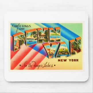 Penn Yan New York NY Old Vintage Travel Souvenir Mouse Pad