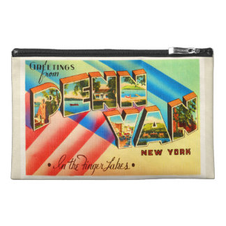 Penn Yan New York NY Old Vintage Travel Souvenir Travel Accessory Bag