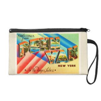 Penn Yan New York NY Old Vintage Travel Souvenir Wristlet