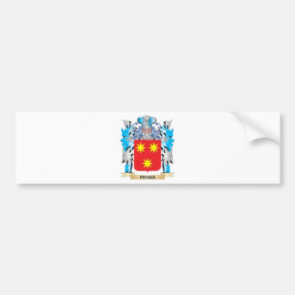 Penna Coat of Arms - Family Crest Car Bumper Sticker