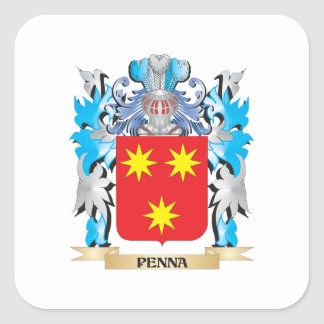 Penna Coat of Arms - Family Crest Square Sticker