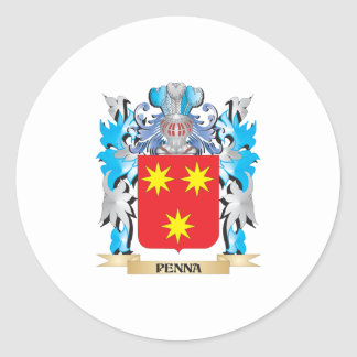 Penna Coat of Arms - Family Crest Classic Round Sticker