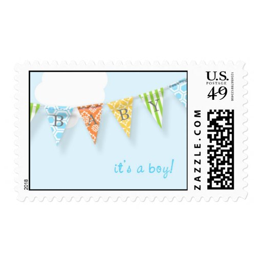 Pennant Banner Baby Boy Postage