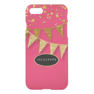 Pennant Banner Confetti Glitter Glitz Sparkle Name iPhone 8/7 Case