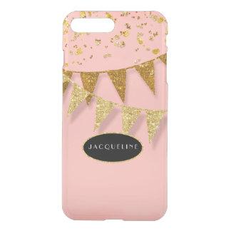 Pennant Banner Confetti Glitter Glitz Sparkle Name iPhone 8 Plus/7 Plus Case