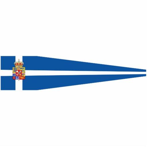 Pennant Of bandera de Grecia, Grecia de reyes Esculturas Fotográficas