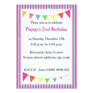 "Pennant Party Invitation 5"" X 7"" Invitation Card"