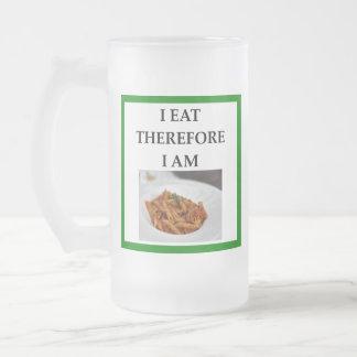 penne frosted glass beer mug