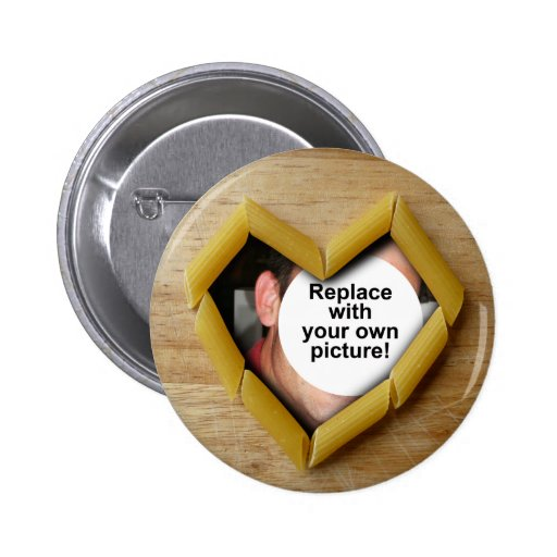Penne Heart Photo Template Button