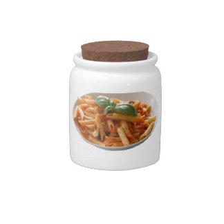 """Penne Pasta"" design candy jar"
