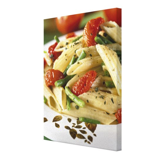 Penne with vegetables For use in USA only.) Canvas Print