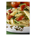 Penne with vegetables For use in USA only.) Card