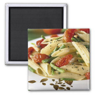 Penne with vegetables For use in USA only.) Fridge Magnet