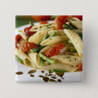 Penne with vegetables For use in USA only.) Pinback Button