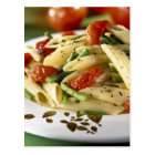 Penne with vegetables For use in USA only.) Postcard