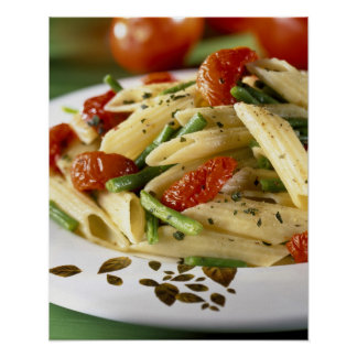 Penne with vegetables For use in USA only.) Poster
