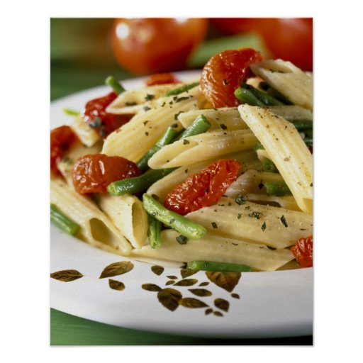 Penne with vegetables For use in USA only.) Posters